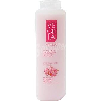Veckia gel de baño hidratante con proteínas de seda ph neutro para piel seca bote 750 ml