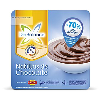 DiaBalance Pascual Natillas chocolate GlucActive pack 4x100 g