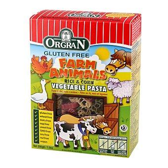Orgran Pasta forma animales arroz maiz verduras - Sin Gluten 200 g