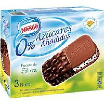 Nestlé Maxibon de nata sin azúcar Pack 3x120 ml