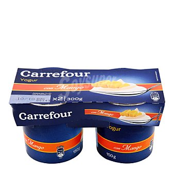 Carrefour Yogur con mango Pack 2x150 g