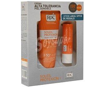 RoC Crema Solar Alta Tolerancia FP 50 Soleil Protexion 50 Mililitros + Regalo de Stick Labial FP 30 30 Gramos