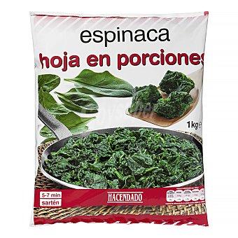 Hacendado Espinaca porciones congelada Paquete 1 kg