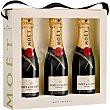 Champagne Imperial brut  Estuche 3 botellas x 20 cl Moët & Chandon