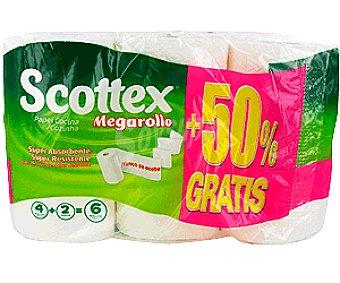 Scottex Rollo Cocina Megarollo 3+3U