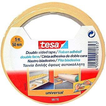 TESA 56170 Cinta adhesiva doble cara universal envase 5 m x 50 mm