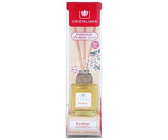 Cristalinas Ambientador de varillas con aroma azahar (armonía) Bote 18 ml