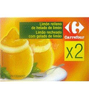 Carrefour Sorbete de limón 2 unidades