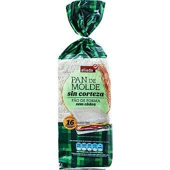 Aliada pan de molde blanco sin corteza 16 rebanadas Bolsa 450 g