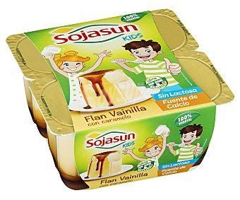 Sojasun Flan de soja con vainilla y caramelo Pack 4 unidades 100 g