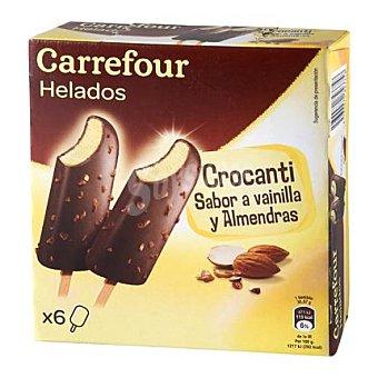 Carrefour Helado crocanti con almendras pack de 6x38 g