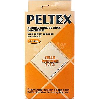 PELTEX Guantes finos látex desechables Bolsa 10 unidades