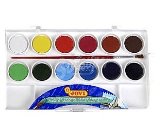 Jovi Caja de 12 acuarelas de diferentes colores 12 unidades