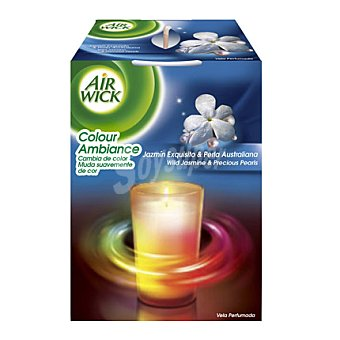 Air Wick Ambientador Vela Colour Ambiance Jazmin Exquisito & Perla Australiana 1 ud