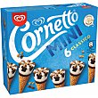 Mini conos de nata con trocitos de almendras 6 x 60 ml Cornetto Frigo