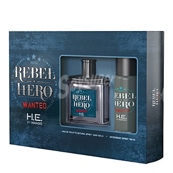 Mango Estuche colonia Rebel Hero Wanted spray 100 ml. + desodorante 150 ml. 1 ud