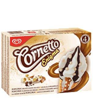 Cornetto Helado con palomita y caramelo 4 ud
