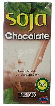 Hacendado Bebida soja con chocolate Brick 1 l