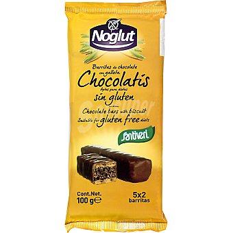 Santiveri Noglut barritas de chocolate con galleta sin gluten  envase 100 g
