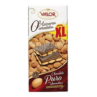 Valor Chocolate puro con almendras 0% azúcares añadidos xl 180 g