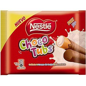 Nestlé Choco tubs crema de leche y chocolate pack 4 unidades envase 80 g Pack 4 unidades