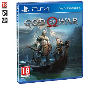 Sony Videojuego God of war para Playstation 4, género acción. pegi: +18 God of War Ps4