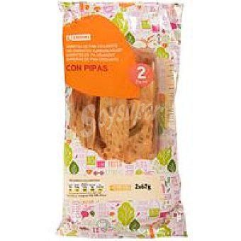 Eroski Palitos con pipas Pack 2x67 g