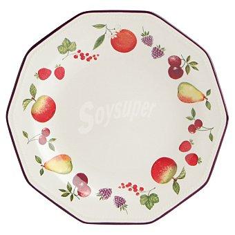 LUMINARC Country Fruits Plato de postre en color blanco 20 cm 1 unidad