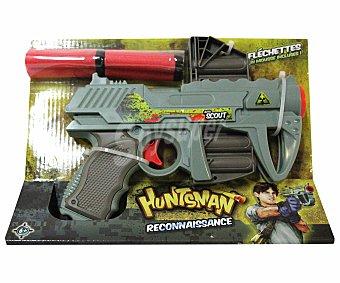 HUNTSMAN Pistola Lanza Dardos de Foam, Incluye Cuatro Dardos 1 Unidad