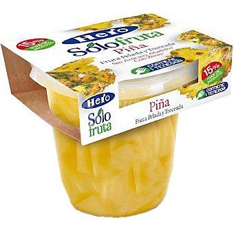 Hero Piña con zumo pelada y troceada sin azúcar añadido Solo Fruta contiene tenedor
