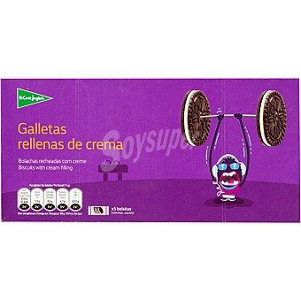 ALIADA galletas rellenas de crema 5 bolsitas con 6 galletas estuche 330 g