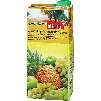 Aliada Zumo de piña manzana y uva elaborado a base de concentrado Envase 1 l