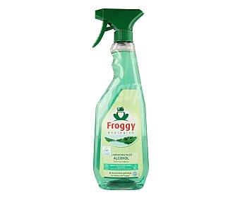 Froggy Limpiacristales de pistola ecológico con alcohol, brillo sin rastros 750 ml