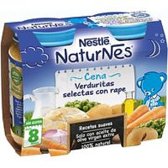 Nestlé - Naturnes Tarrito Cena de verduritas selectas con rape Nestlé pack 2x200 g