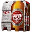 Cerveza rubia 0,0 Pack 6 x 33 cl Superbock