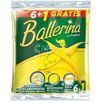 Ballerina Bayeta amarilla Pack 6+1 uds