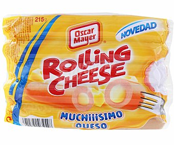 Oscar Mayer Salchicha Rolling Cheese Sobre 215 g