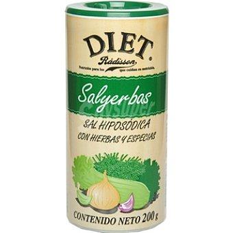 Diet Rádisson sal Salyerbas hiposódica con hierbas y especias Envase 200 g