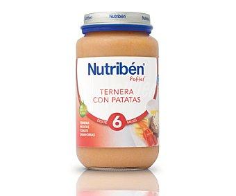 Nutribén Tarrito de ternera con patatas a partir de 6 meses 250 g