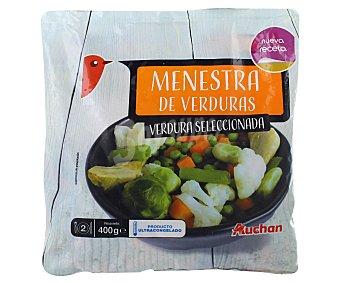 Auchan Menestra de verduras 400 gramos