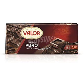 Valor Chocolate puro Tableta 200 g