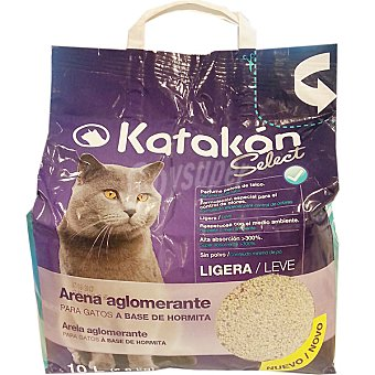 Arena aglomerante para gatos ligera con perfume polvos de talco Bolsa 10 l