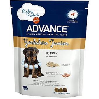 Advance Affinity JUNIOR Yorkshire Terrier alimento especial para cachorros con yogur y sabor a jamón cocido  bolsa 400 g