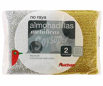Auchan Almohadilla oro/plata No Raya 2 Unidades