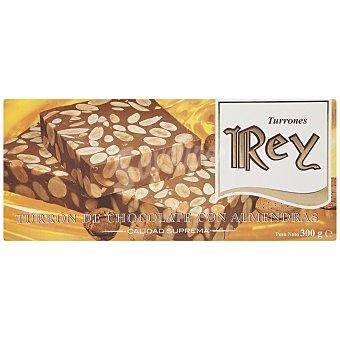 REY Turrón de chocolate con almendras Estuche 300 gr