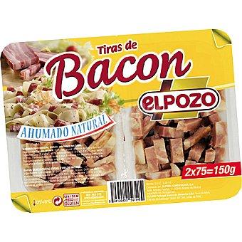ElPozo Tiras de bacon ahumado natural Pack 2 envases 75 g