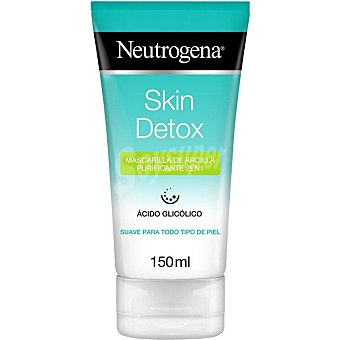 Neutrogena Skin detox mascarilla limpiadora de arcilla purificante 2 en para todo tipo de pieles 1 tubo 150 ml