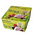 Yogur Soja Frutos rojos Pack de 4x125 g Carrefour