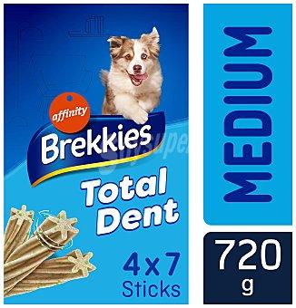 Brekkies Affinity Total dent stick para perro para prevenir el mal aliento y sarro razas medianas y grandes Caja 720 g