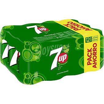 7Up Refresco lima limon pack 12 lata 33 cl Pack 12 lata 33 cl